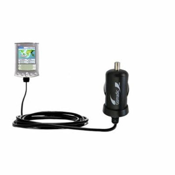 Gomadic Intelligent Compact Car / Auto DC Charger suitable for the Palm palm m500 - 2A / 10W power at half the size. Uses Gomadic TipExchange Technolo