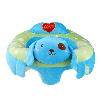 Dovewill Cute Infant Baby Kids Support Seat Soft Car Pillow Cushion Safety Sofa Plush Toy - Blue Dog