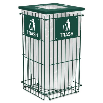 Ex-cell Clean Grid Fully Collapsible Waste Receptacle, Square Top, 45 gal, Hunt