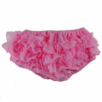 Reflectionz Baby Girls Pink Ruffle Cotton Diaper Cover Bloomers 3-18M