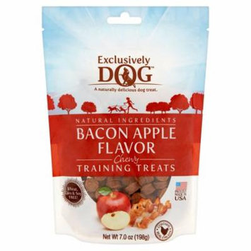 Exclusively Dog Bacon Apple Flavor Chewy Training Treats, 7.0 oz