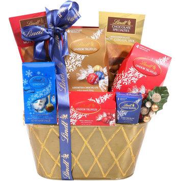Alder Creek Gift Baskets Lindt Holiday Favorites Gift Basket, 7 pc