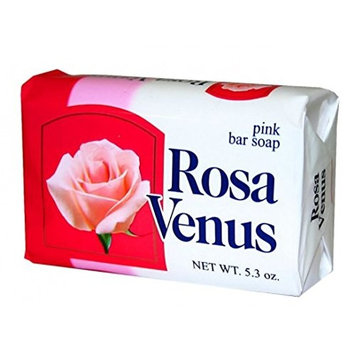Jabon Rosa Venus Clasico 150 g / 5.29 oz Soap Bar Classic Bathing Natural Mexican smooth soothing gentle scent foaming shower and bath hand choose