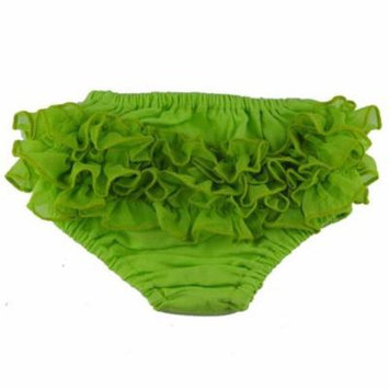 Reflectionz Baby Girls Lime Ruffle Cotton Diaper Cover Bloomers 3-18M