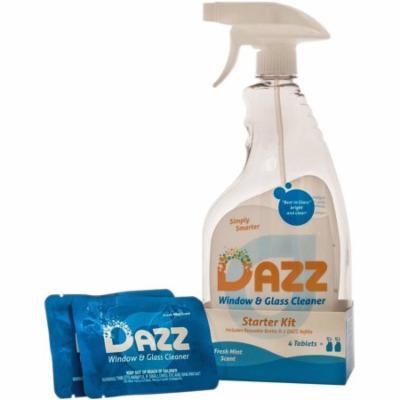 DAZZ Fresh Mint Scent Window & Glass Cleaner Starter Kit, 3 pc