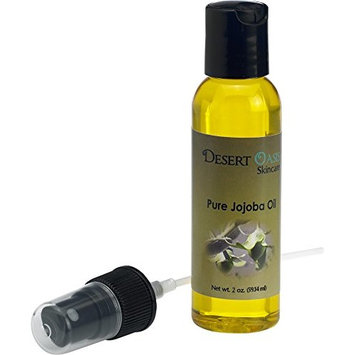 Pure Golden Jojoba Oil, 2 fluid oz (59 ml), Cold Pressed, Not deodorized, All natural with spray applicator, Grown and pressed in USA