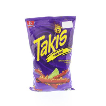 Takis Tortilla Chips Hot Chili Pepper and Lime - Chile y Limon 9.9 Oz (Pack of 18)