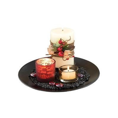 San Miguel Hearth Candle Garden & Candles 4.1 Inch, Multi