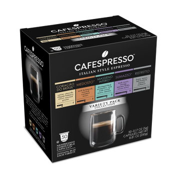 Trilliant Food Cafespresso Variety Pack Nespresso ® Compatible Capsules, 50 count (5 g) capsules