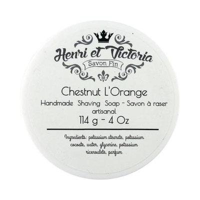 Henri et Victoria Shaving Soap Vegan (Chestnut L'orange)