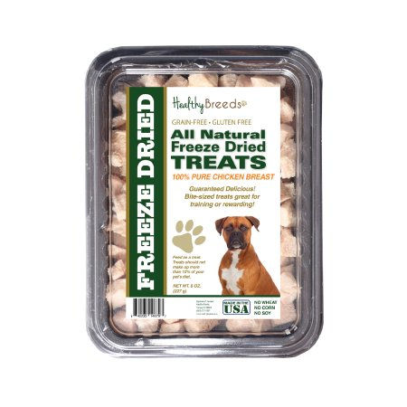 Healthy Breeds 840235146797 8 oz Boxer All Natural Freeze Dried Treats Chicken Breast
