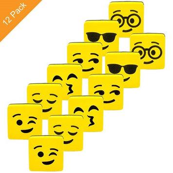 Alphabetdeal. Magnetic Dry Erase Whiteboard Eraser Set - Yellow Happy Face