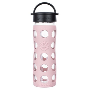 Glass Water Bottle with Classic Cap and Silicone Sleeve Core 2.0 Desert Rose - 16 fl. oz.