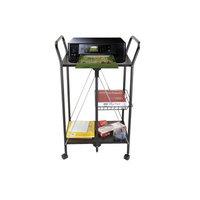 Ems Mind Reader Llc Mind Reader 2 Tier Metal Foldable Cart with Mesh Basket, Black