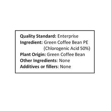 NuSci Green Coffee Bean Extract Powder, Standardized 50% Chlorogenic Acid (500 grams (1.1 lb))