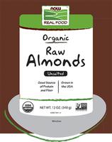 Organic Raw Almonds Now Foods 12 oz Seed