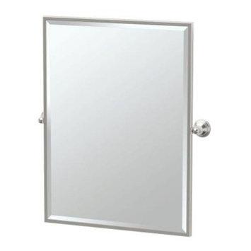 Gatco Charlotte 29 in. x 33 in. Framed Single Rectangle Mirror in Satin Nickel