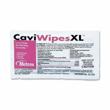 MACW078155 Caviwipes CaviWipesXL Disinfecting Towelettes - Wipe - 50 / Box - White