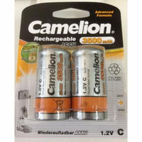 Camelion Advanced Formula C Rechargeable NiMH Batteries 3500mAh 4 Pack Retail + FREE SHIPPING!