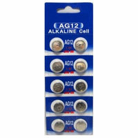 AG12 / LR43 Alkaline Button Watch Battery 1.5V - 500 Pack - FREE SHIPPING