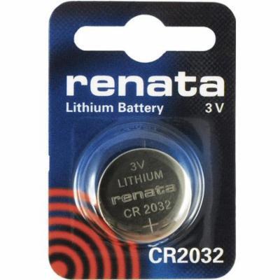 Renata CR2032 3V Lithium Coin Battery on Mini Blister Pack - 10 Pack + Free Shipping