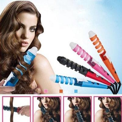 Medex Spiral Curl Ceramic Curling Iron Dual HAIR Curler- Orange