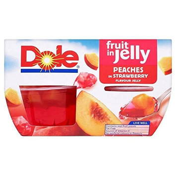 Dole Peaches in Strawberry Flavour Jelly (4x113g)