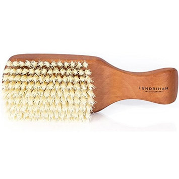 Fendrihan Genuine 100% Pure Boar Men's Hair Brush with Pearwood Handle and Soft Light Bristles MADE IN GERMANY (6.7 Inches)