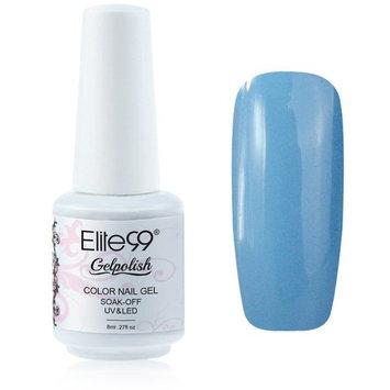 Elite99 Gelpolish Soak-off Gel Nail Polish UV LED Nail Art Skyblue 8ml 1413