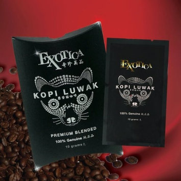 The World's Most Exclusive Coffee, Kopi Luwak Specialty Arabica Premium Blend Ground Gourmet Coffee (10g sachet)