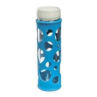 Glass Water Bottle with Silicon Wrap & Twist Lid 19 oz., Laguna