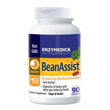 EnzyMedica BeanAssist - 90 Capsules Occasional Gas, Bloating & Discomfort