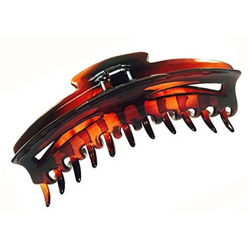 Parcelona French Bend Narrow Large Jumbo 6 inch Tortoise Shell Cellulose Jaw Hair Claw Clip Clutcher Clamp