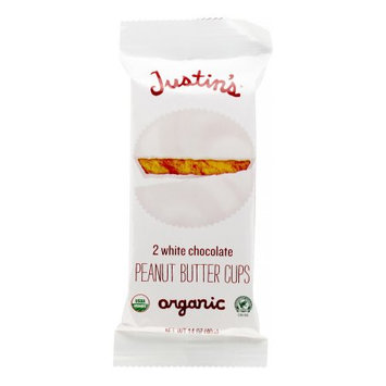Justin's Nut Butter Nut Butter Organic Peanut Butter Cups - White Chocolate - 1.4 oz, (Pack of 12)
