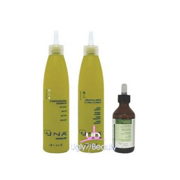 UNA SET Compensating Shampoo 250ml + Revitalizing Conditioner 250ml + Oxygenating Treatment 90ml for Hair Loss