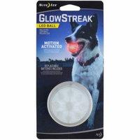 Nite Ize GlowStreak LED Dog Ball, Diameter 2.5