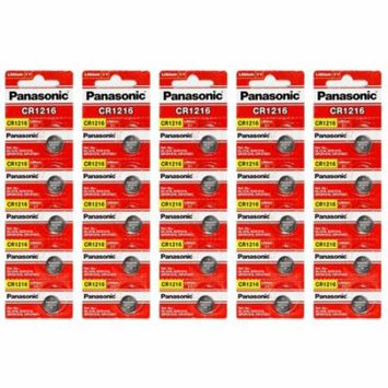 Panasonic CR1216 3V Lithium Coin Battery - 100 Pack + FREE SHIPPING!