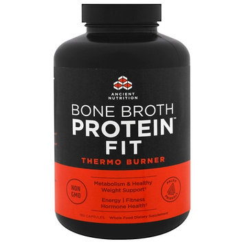Dr. Axe / Ancient Nutrition, Bone Broth Protein Fit, Thermo Burner , 180 Capsules