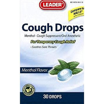 Leader Menthol Cough Drops, 30 Cough Drops Per Bag (4 Pack)