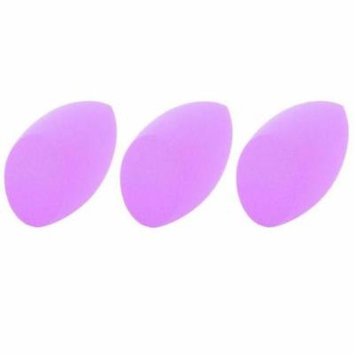 3 Pack Beauty Makeup Sponge Blender by Zodaca Puff Flawless Coverage Special Egg Shape Design - Purple