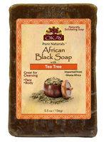 OKAY African Black Soap Tea Tree 156 g - 5.5 oz