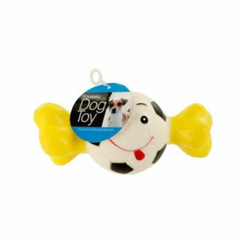 Squeaky Sports Ball With Bone Dog Toy (Pack Of 12)