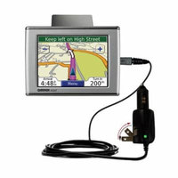 Intelligent Dual Purpose DC Vehicle and AC Home Wall Charger suitable for the Garmin Nuvi 350 - Two critical functions, one unique charger - Uses Goma