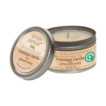 Simply Sensual Natural Soy Massage Candles with Pheromones (Patchouli Ylang-Ylang 4oz)