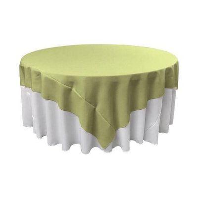 LA Linen TCpop90x90-SageP19 Polyester Poplin Square Tablecloth Sage - 90 x 90 in.