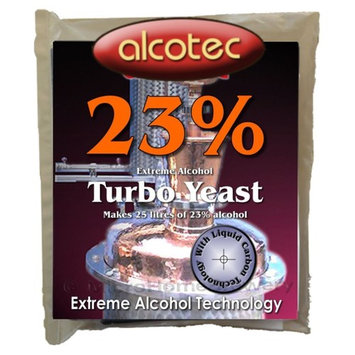 Alcotec 31023 23% Extreme Alcohol Turbo Yeast 25 L High Alcohol Vodka Wash Distilling