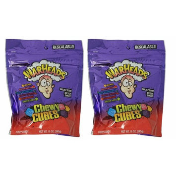 Warheads Chewy Cubes 10oz (2 Pack) Mildy Sour Wildy Sweet Candy