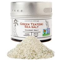 Gustus Vitae, Gourmet Salt, Greek Tzatziki Sea Salt, 2.7 oz (76 g) [Flavor : Greek Tzatziki Sea Salt]