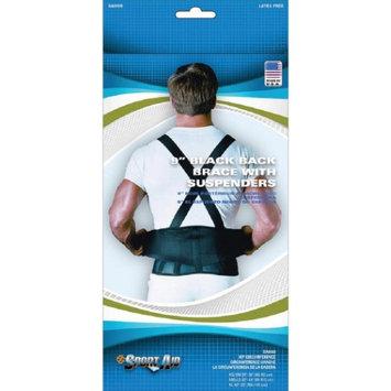 Scott Specialties Cmo Inc Sport Aid Back Brace with Suspenders, X-Large, Black Part No. SA0109 XL Qty 1 Each