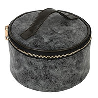 Mootime Cosmetic Makeup Travel Toiletry Storage Bag Pouch Organizer Case for Ladies Deep Grey
